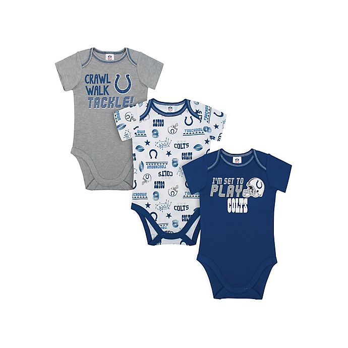 Alternate image 1 for NFL Indianapolis  Colts 3-Pack Bodysuits