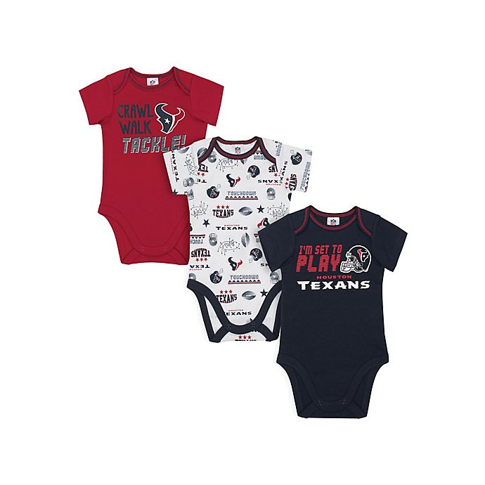 4f6f78d5b39 NFL Houston Texans 3-Pack Short Sleeve Bodysuits | buybuy BABY