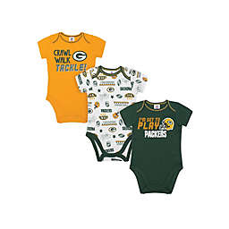 NFL Green Bay Packers Size 18M 3-Pack Short Sleeve Bodysuits
