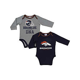 NFL Denver Broncos 2-Pack Boy Long-Sleeve Bodysuit Set