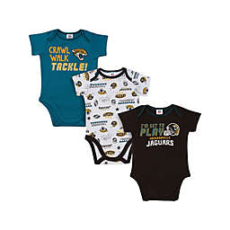 NFL Jacksonville Jaguars 3-Pack Short Sleeve Bodysuits