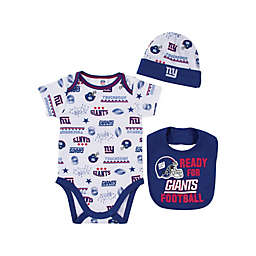NFL New York Giants 3-Piece Bodysuit Set db336f7c6