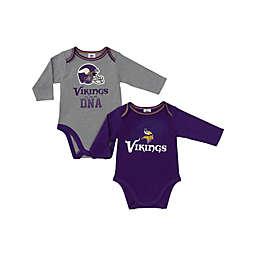 11fc0b091f2 NFL Minnesota Vikings 2-Pack Boy Long-Sleeve Bodysuit Set