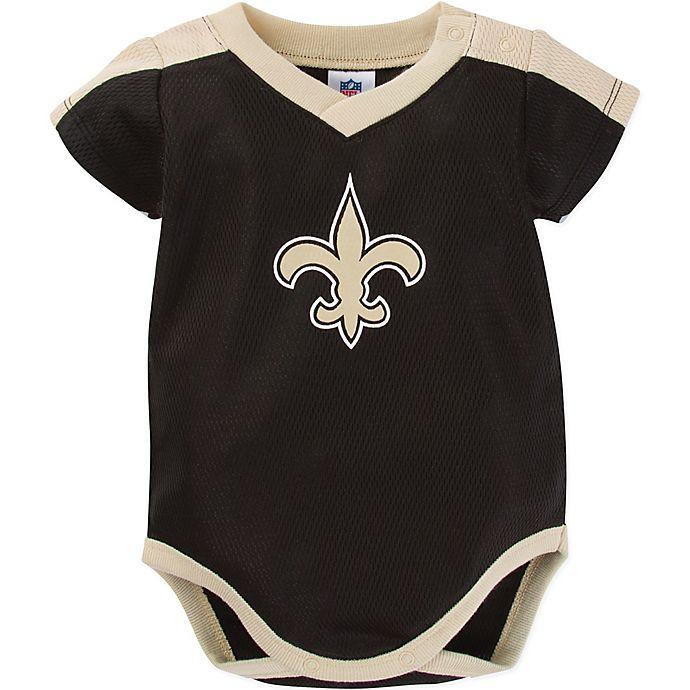 Alternate image 1 for NFL® New Orleans Saints Size 6-12M Short-Sleeve Bodysuit
