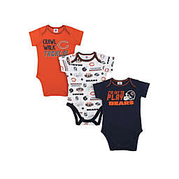 NFL® Chicago Bears 3-Pack Short-Sleeve Bodysuit Set