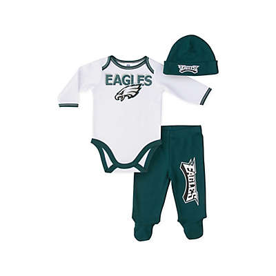 NFL® Philadelphia Eagles 3-Piece Short-Sleeve Bodysuit Set