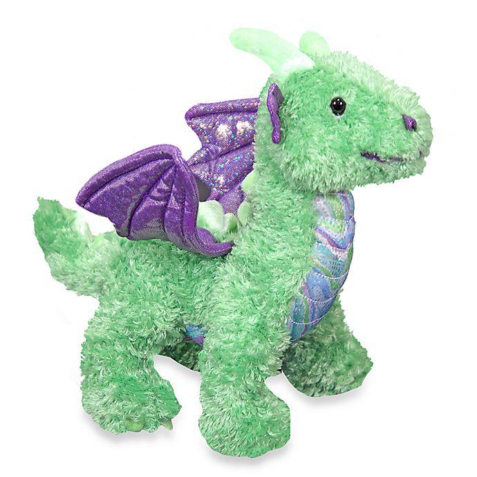 Alternate image 1 for Melissa & Doug® Zephyr Green Dragon Stuffed Animal