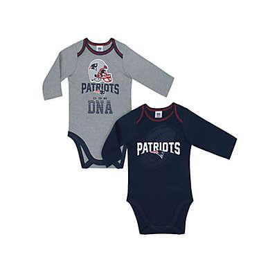 NFL New England Patriots 2-Pack Boy Long-Sleeve Bodysuit Set