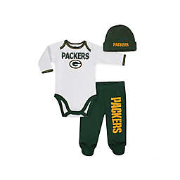 NFL® Green Bay Packers 3-Piece Bodysuit, Pant, and Hat Set
