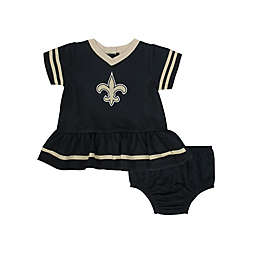 NFL New Orleans Saints Girls Dazzle Dress with Panty Set