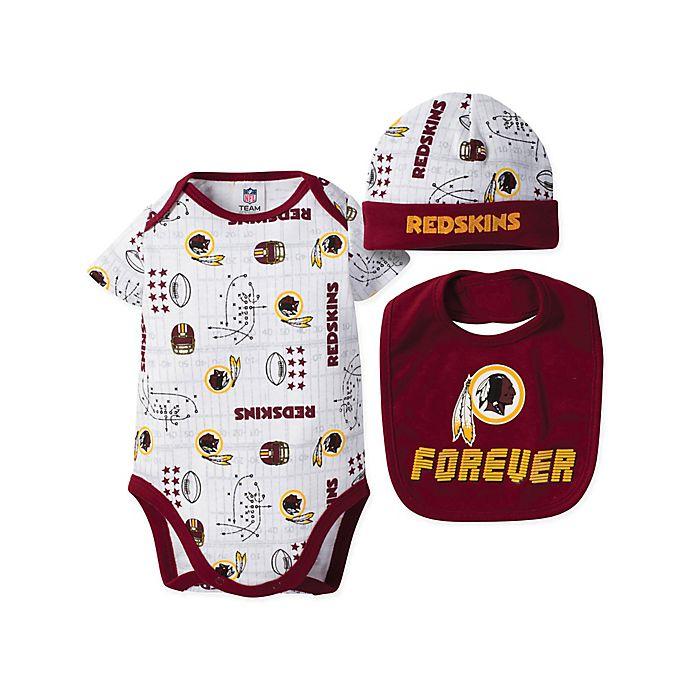 32ce5152 NFL® Washington Redskins 3-Piece Bodysuit, Bib, and Hat Set | buybuy ...