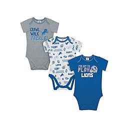 NFL® Detroit Lions 3-Pack Short Sleeve Bodysuits