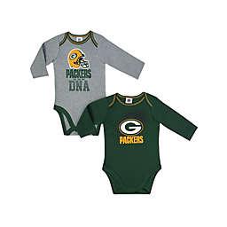 NFL Green Bay Packers 2-Pack Boy Long-Sleeve Bodysuit Set