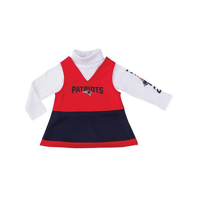 Alternate image 1 for NFL® New England Patriots Size 3T 2-Piece Girls Jumper Set