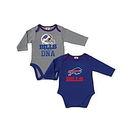 NFL Buffalo Bills 2-Pack Boy Long-Sleeve Bodysuit Set