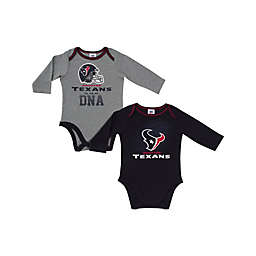 NFL Houston Texans 2-Pack Boy Long-Sleeve Bodysuit Set