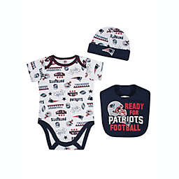 NFL® New England Patriots 3-Piece Bodysuit Set b21b18101