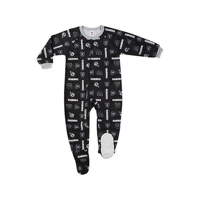 Alternate image 1 for NFL® Oakland Raiders Size 2T Footie Sleepwear