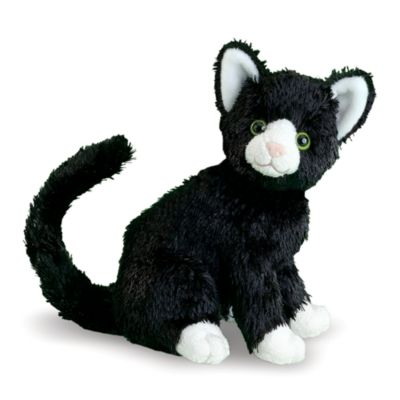 melissa doug midnight black cat stuffed animal bed bath beyond. Black Bedroom Furniture Sets. Home Design Ideas