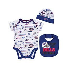 NFL® Buffalo Bills 3-Piece Short Sleeve Bodysuit
