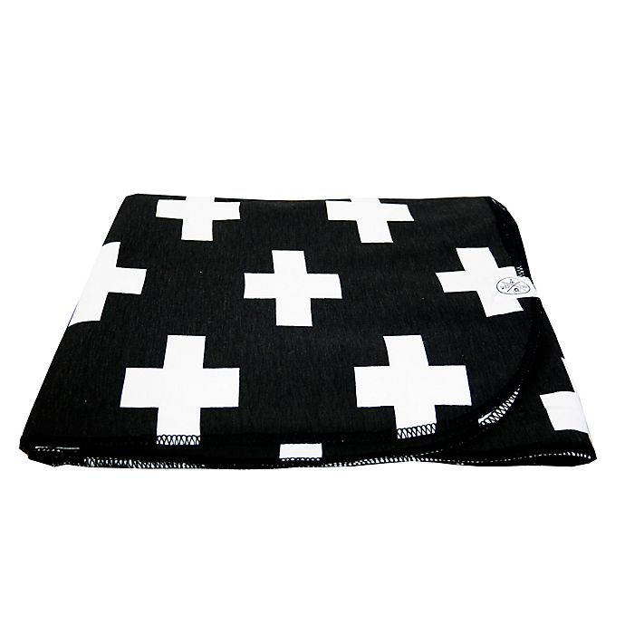 Alternate image 1 for Wildfire Teepees® Cross Swaddle Blanket in Black