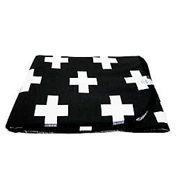 Wildfire Teepees® Cross Swaddle Blanket in Black