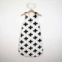 White Cross Print Sleeping Bag in Black/White