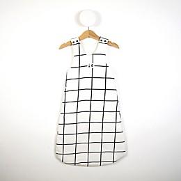 Grid Print Sleeping Bag in Black/White