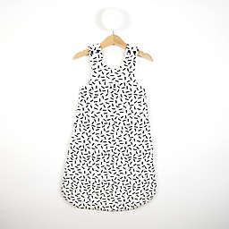 Dash Print Sleeping Bag in Black/White