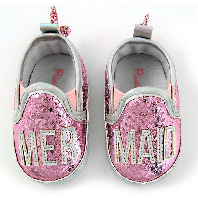 Alternate image 1 for Rising Star™ Size 9-12M Mermaid Shoes in Pink