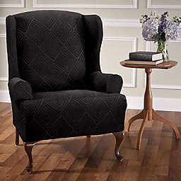 Wing Back Chair Slip Cover Bed Bath Beyond
