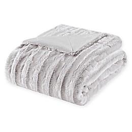 Madison Park Duke Throw Blanket in Grey