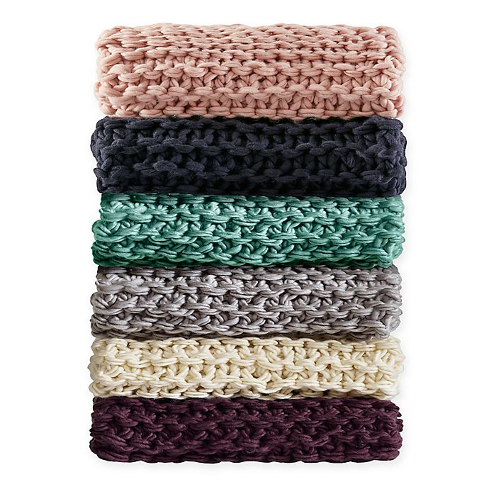 Alternate image 1 for Madison Park Chunky Knit Throw Blanket