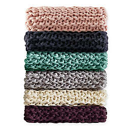 Madison Park Chunky Knit Throw Blanket