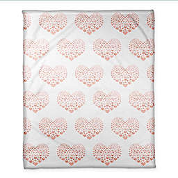 Designs Direct Tiny Hearts Throw Blanket in Pink