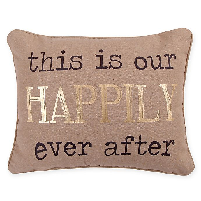 Alternate image 1 for Levtex Home Lodge Happily Ever After Oblong Throw Pillow in Taupe