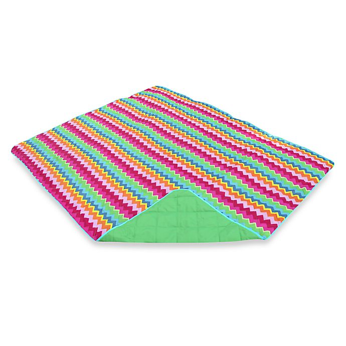 Alternate image 1 for Out & About Indoor/Outdoor Water Repellent Zig Zag Travel Throw Blanket