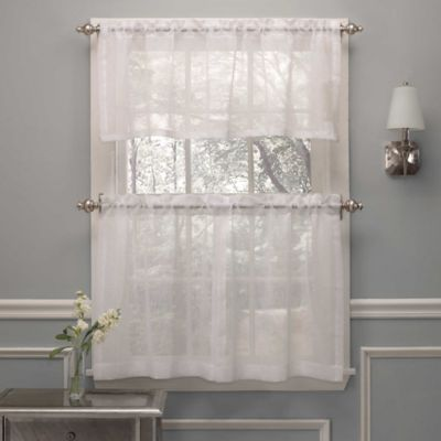 Crushed Voile Window Curtain Valance Bed Bath Amp Beyond