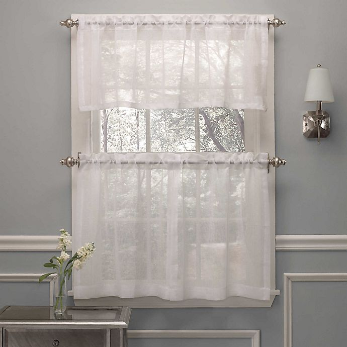 Curtain Ideas With Voile: Crushed Voile Window Curtain Valance