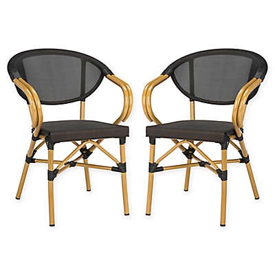 Safavieh Burke All-Weather Stacking Chairs (Set of 2)