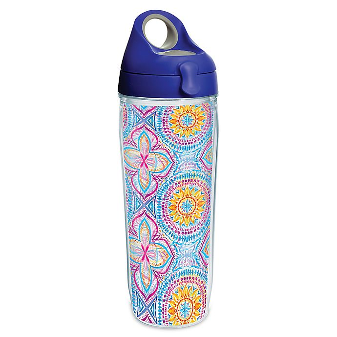 Alternate image 1 for Tervis® Bright Mandala 24 oz. Wrap Water Bottle with Lid