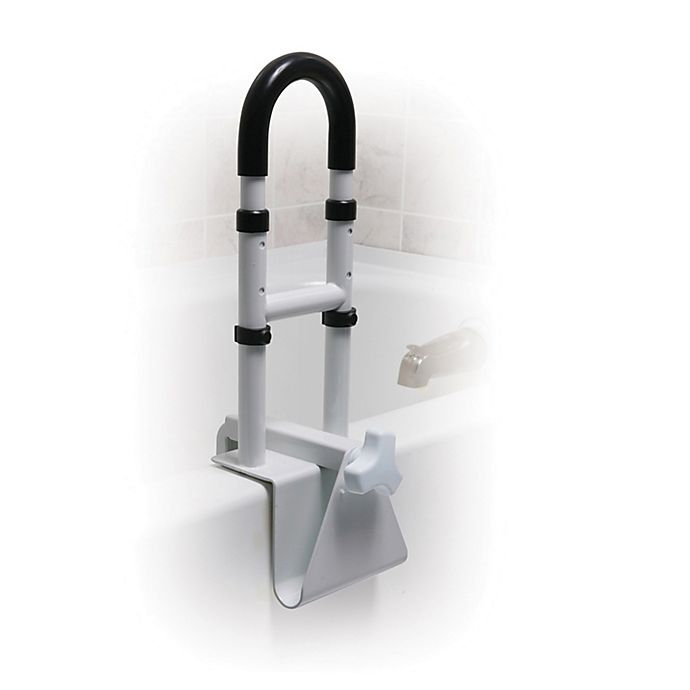 Alternate image 1 for Drive Medical  Height-Adjustable Bathtub Safety Rail