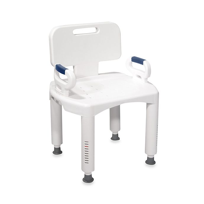 Alternate image 1 for Drive Medical Premium Bath Seat with Back and Arms in White