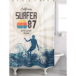 """Surfer 87"" Multicolor Shower Curtain"