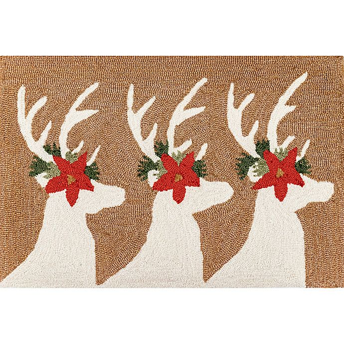 Alternate image 1 for Liora Manne Deer & Friends Indoor/Outdoor 1'8 X 2'6 Accent Rug in Natural