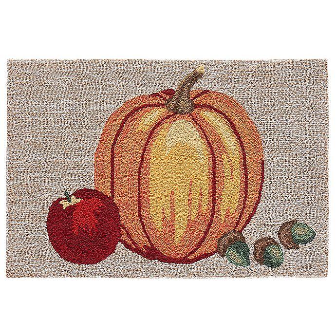 Alternate image 1 for Liora Manne Pumpkin Indoor/Outdoor 1'8 X 2'6 Accent Rug in Natural