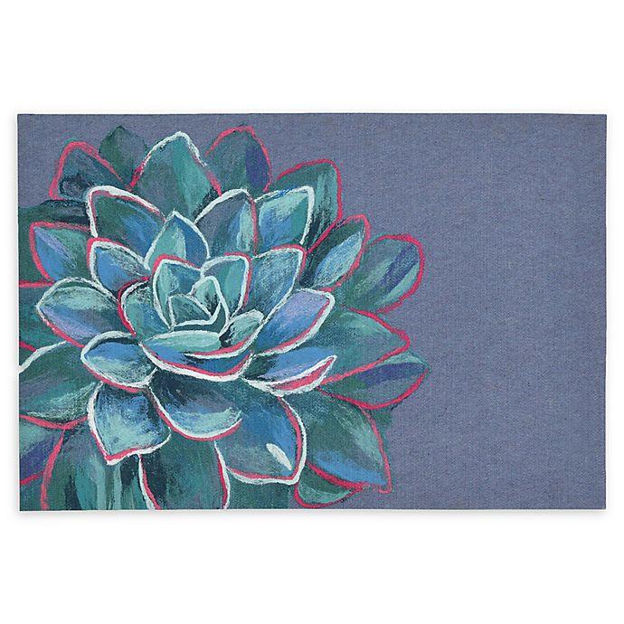 Alternate image 1 for Liora Manne Succulent Lapis Powerloomed Rug