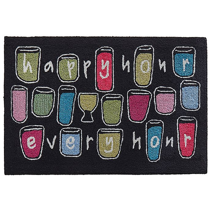 Alternate image 1 for Liora Manne Happy Hour Every 2' X 3' Tufted Accent Rug in Black