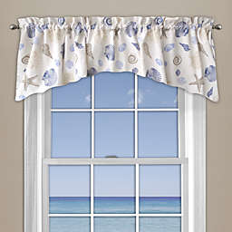Seashore Coral Window Curtain Valance in Blue