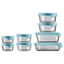 Anchor Hocking® TrueSeal™ Food Storage Containers Collection  in Clear/Blue